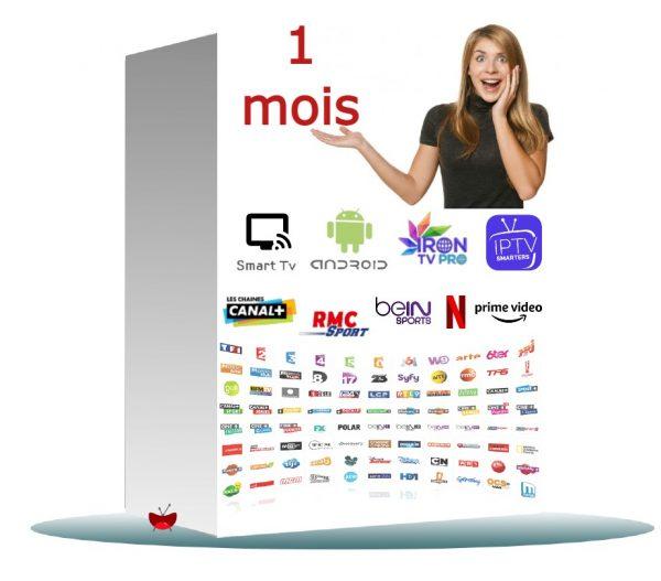1 mois d'abonnement iptv chez hautdebit.fr